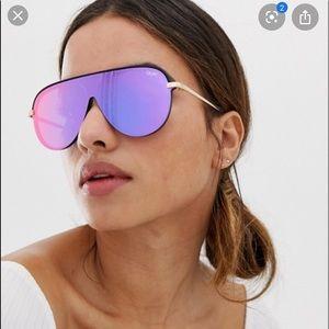 Quay x JLo Empire Sunglasses Purple Mirrored Lense